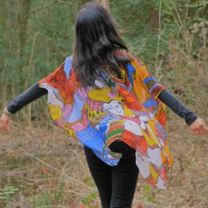 bohemian art kimono
