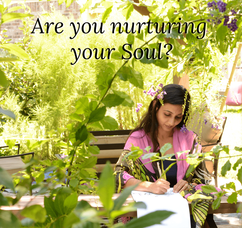 how are you nurturing your soul: Loveleen in garden