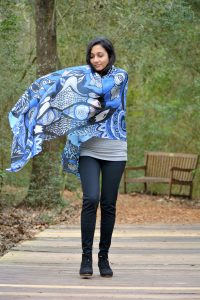 blue scarf with nature is my zen place design