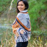 I embody peace modal scarf - orange