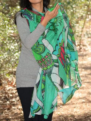 i love to play and dance - green scarf