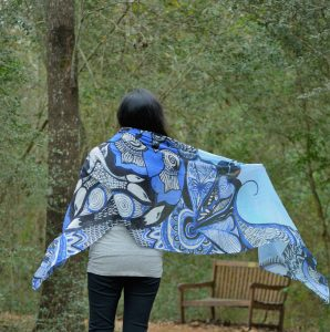 scarf with nature is my zen print