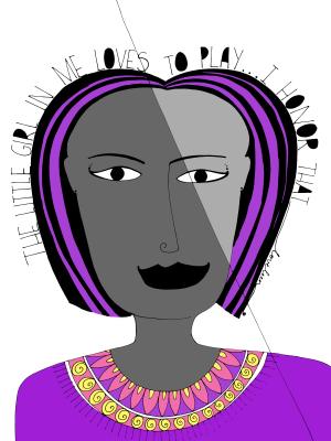 purple honor inner child art print
