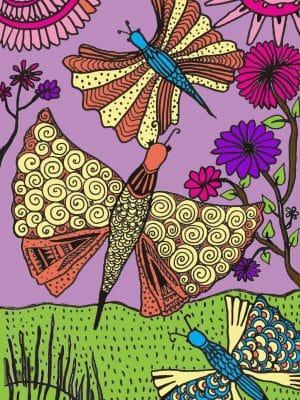 fly like a butterfly art print