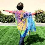 blue and green kimono: i am beauty