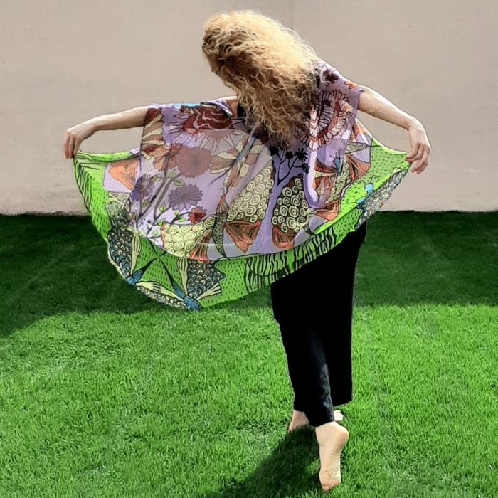 green and pink kimono: i am joy