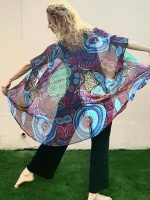 red and blue kimono - i choose to receive
