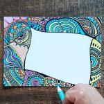 blank doodle art card