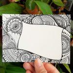 small doodle art card
