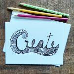 Creative art design Inspire and uplift word card