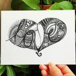Love art design word card