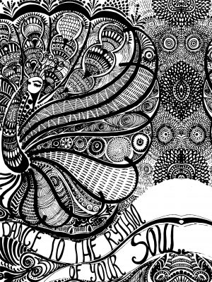 Coloring page-Rhythm of your Soul