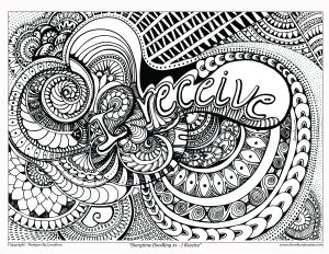 i receive coloring page - storytime doodling