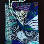 i invoke courage - altar tray glass with necklace