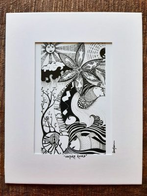 nature rocks - art print with sun