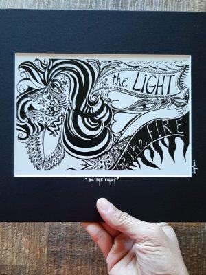 be the light art frame