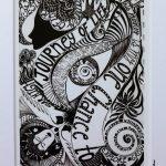 journey of life - art print in frame