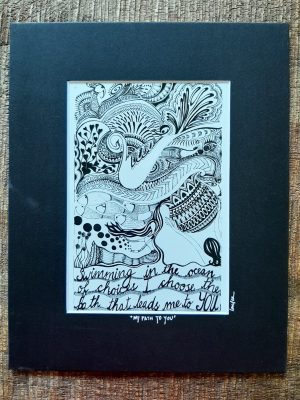 my path to you matted art print