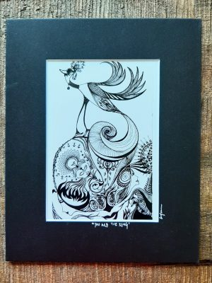 you are the king - art print with black frame