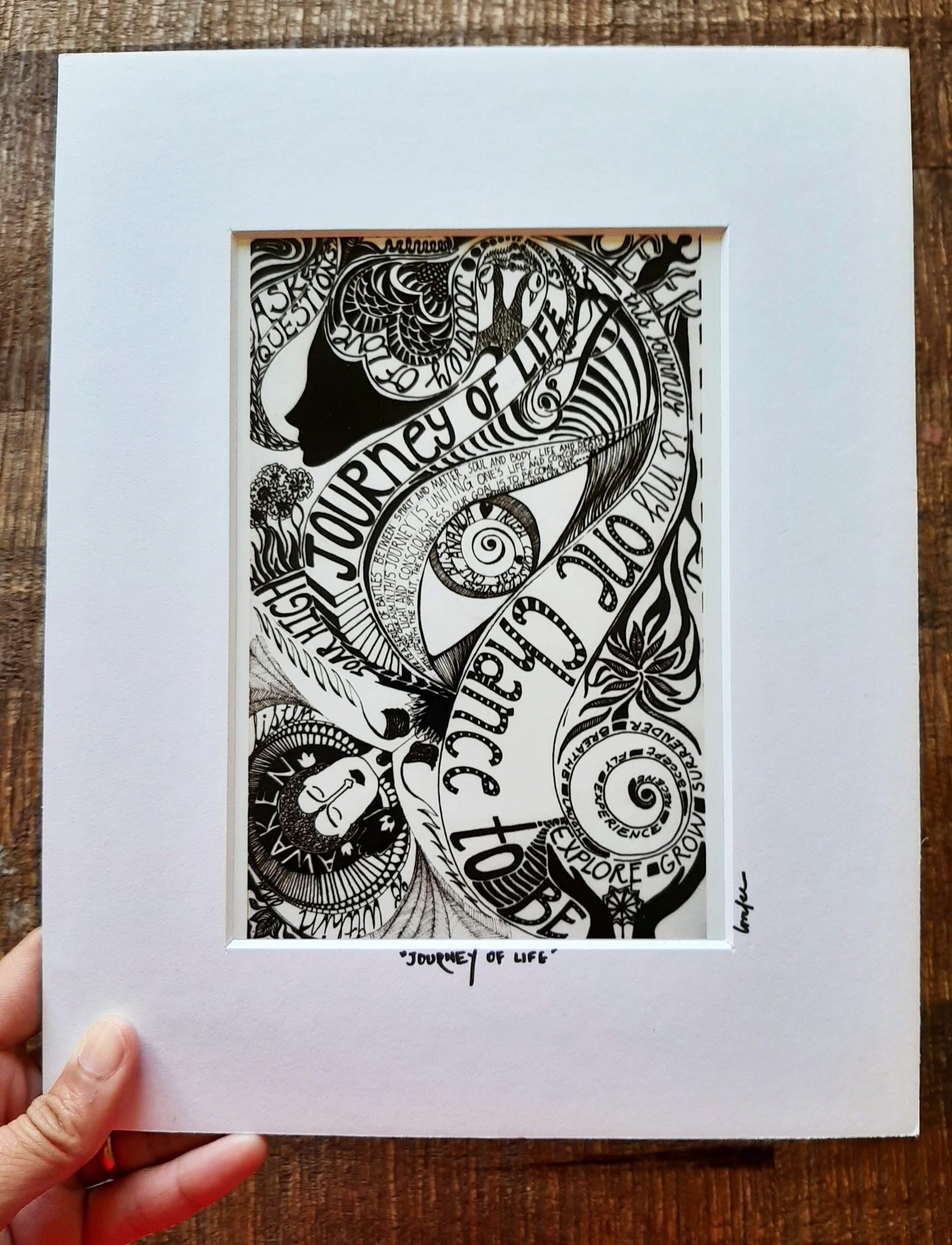journey of life - matted art print
