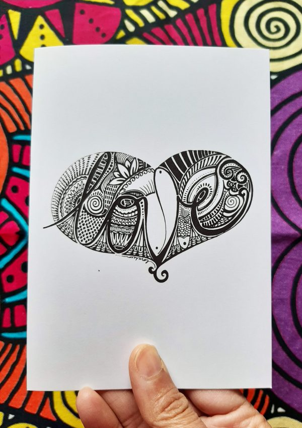 card with love art