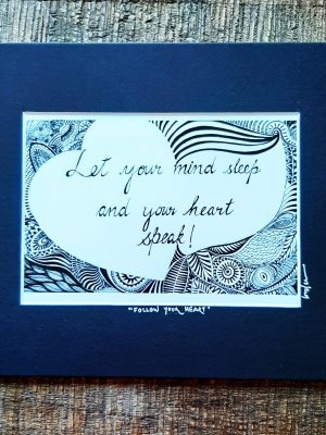let your mind sleep - matted art print