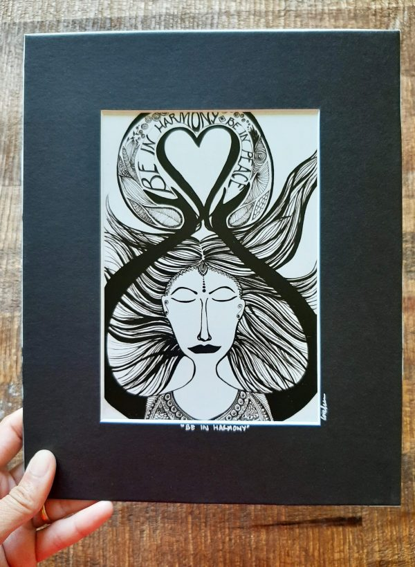 be in harmony - art print in frame