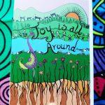 joy is all around art card
