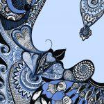 my soul filled with peace kimono art design