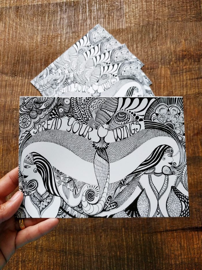 art card: spread your wings