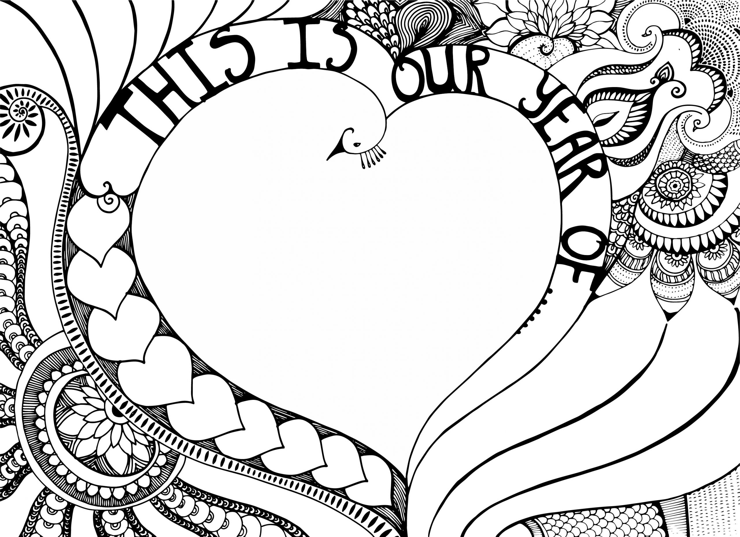 this is our year - heart coloring page