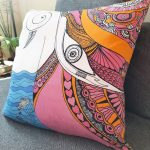 i am connected to all beings accent pillow