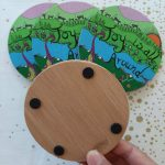 back of joy is all around coaster