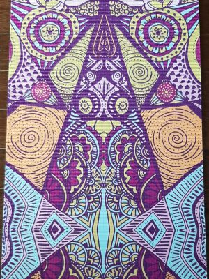 cosmic pattern yoga mat: one with the universe