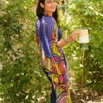 nature and coffee: purple and yellow scarf