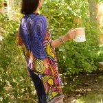 nature and coffee: spirals and circles modal scarf