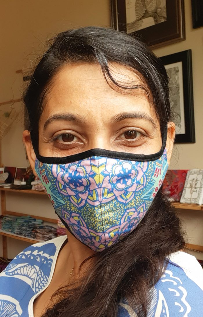 my being is sacred flowers blooming mask