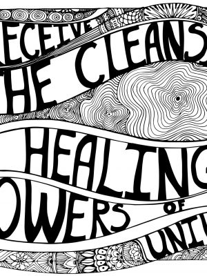 healing and cleansing, coloring page