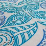 ocean design tea towels - close up