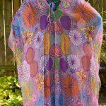 I permeate life with joy kimono - back view