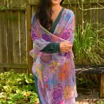 I permeate life with joy kimono - front view