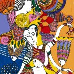I live in color - dancing women modal scarf