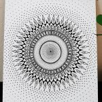 life force expansion mandala design in a wool panel