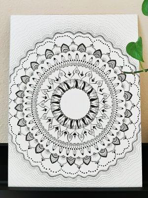life force expansion mandala creative art print