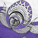 love birds-dish-towel-purple-black