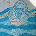 love birds-dish-towel-turquoise