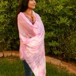 pink scarf with i am infinite print