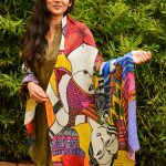 I live in color - fish modal scarf