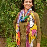 I live in color - lenzing modal scarf