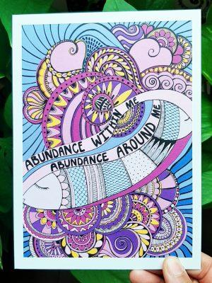 Abundance within me mini art print